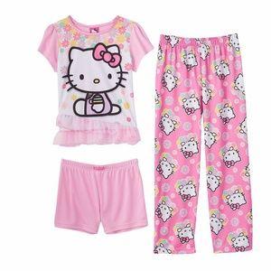 Hello Kitty 3-Piece Pajama Set size 4